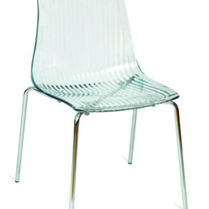 Sydney Clear Acrylic Kitchen Dining Chair Chrome Legs Perspex Seat Stacking