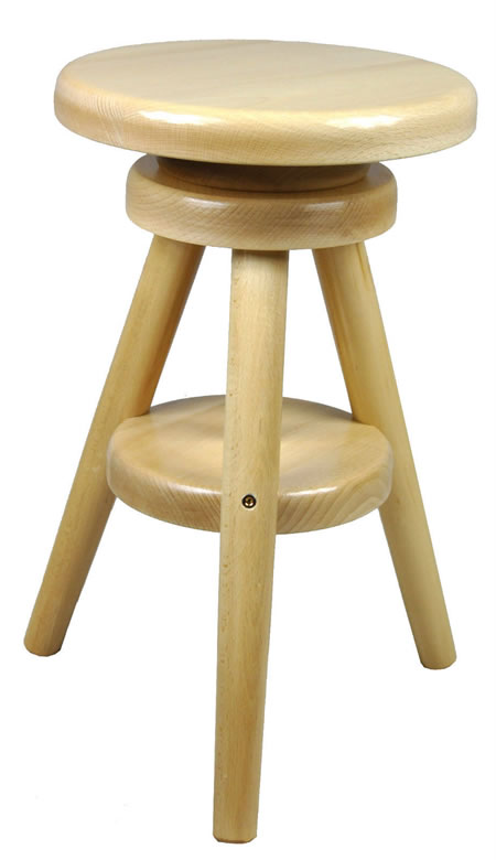 Tonby Quality Adjustable Screw Seat Kitchen Bar Stool Hard Wood Frame Retro Style Various Colours Fully Assembled