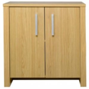 Omana Wood Effect Small 2 Door Storage Sideboard Cupboard Oak
