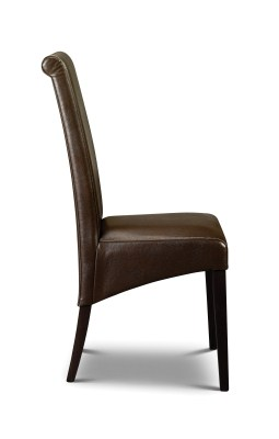 Aremis Faux Leather Padded Chair Fully Assembled