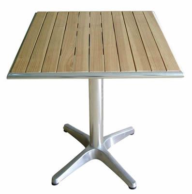 Table Aluminium Chrome Bistro Square Garden Outdoor Furniture High Quality UK