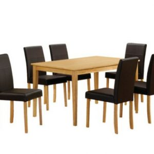 Atill Oak Table And Chairs - Padded