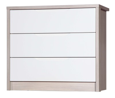 Breeze Gloss Quality Bedroom 3 Drawer Chest - Fully Assembled Champagne Frame Variety Of Drawer Colours