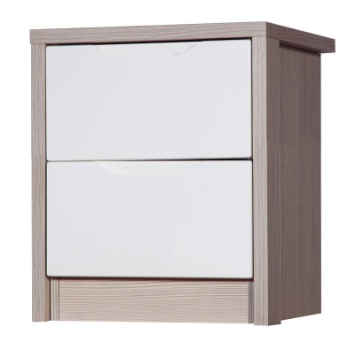 Breeze Gloss Quality Bedroom 2 Drawer Chest Table - Fully Assembled Champagne Frame Variety Of Drawer Colours
