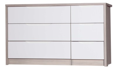 Breeze Gloss Quality Bedroom 3 Drawer Chest Double - Fully Assembled Champagne Frame Variety Of Drawer Colours