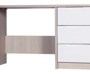 Breeze Gloss Quality Bedroom Dressing Table - Fully Assembled Champagne Frame Variety Of Drawer Colours