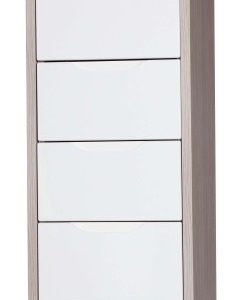 Breeze Gloss Quality Bedroom Tallboy 4 Drawer Chest - Fully Assembled Champagne Frame Variety Of Drawer Colours
