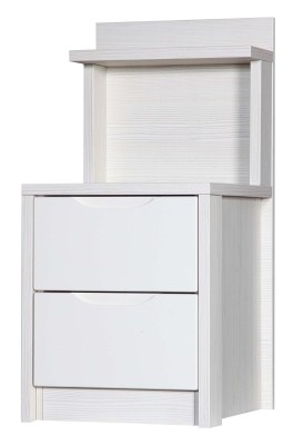 Kylie Gloss Quality Bedroom 2 Drawer Bedside Headboard - Fully Assembled White Frame Variety Of Drawer Colours