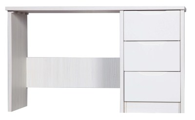 Kylie Gloss Quality Bedroom Dressing Table - Fully Assembled White Frame Variety Of Drawer Colours