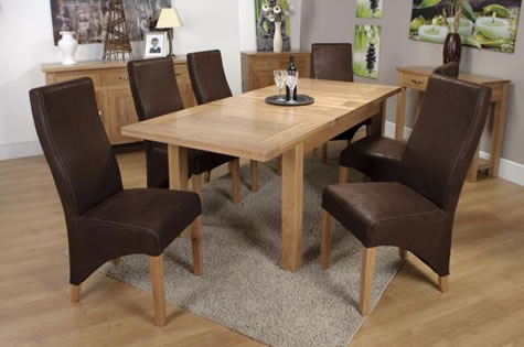 Canora Oak Extending Large Dining Table