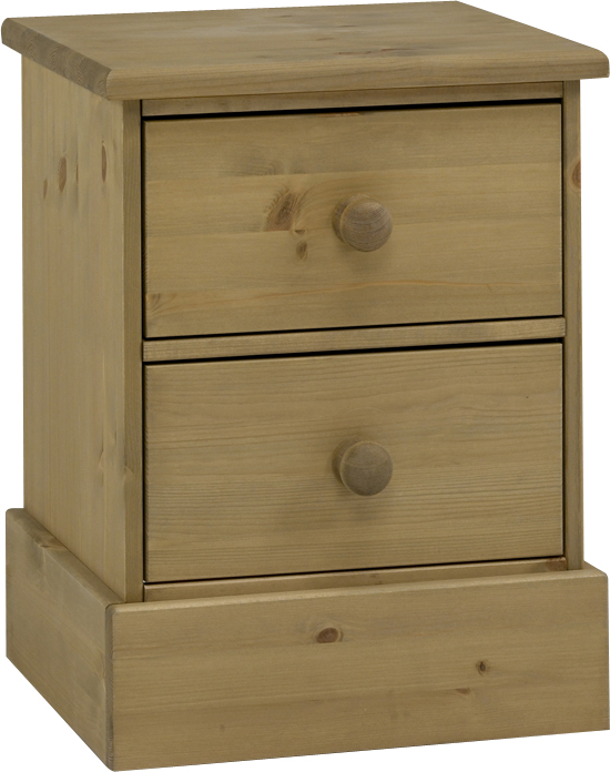 Caledonian Waxed Pine 3 Drawer Bedside Table Danish Made Quality