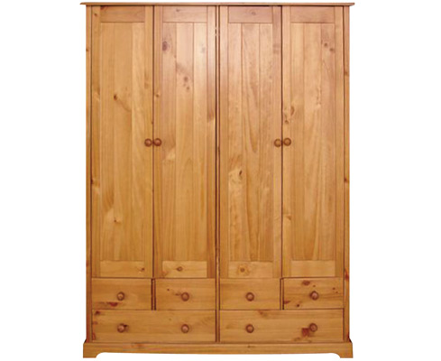 Balsam Pine 4 Door Wardrobe