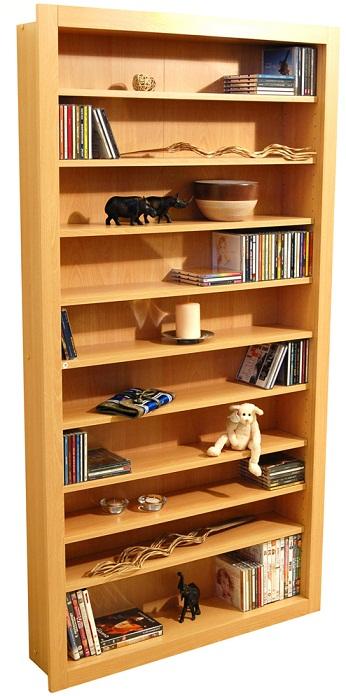 Bolmor Cd/Dvd Storage Shelves - Beech Finish