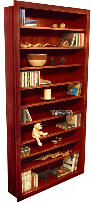 Bolmor Cd/Dvd Storage Shelves -Walnut Finish