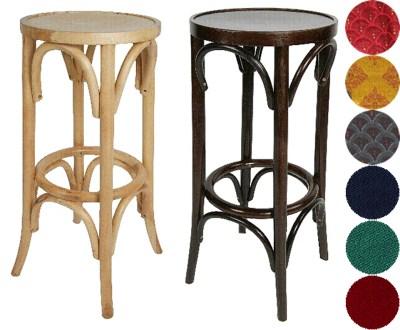 Aski Bentwood Bar Stool Unpadded Polished Wooden Seat Fully Assembled
