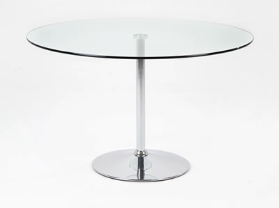 Becks Clear Glass Kitchen Dining Table Large Or Small Glass Table
