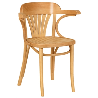Apony Beech Wood Armchair - Natural Fully Assembled