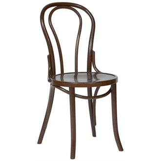 Apone Side Chair - Walnut Frame Bentwood Style Fully Assembled