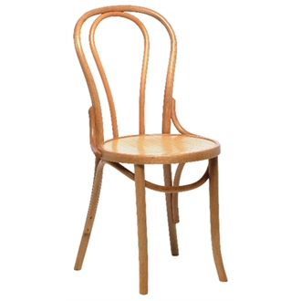 Apone Kitchen Dining Chair - Natural Colour Bentwood Style Fully Assembled