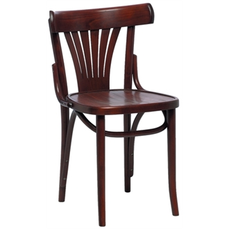 Acob Beech Wood Chair - Walnut Fully Assembled