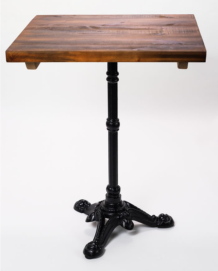 Barron Three Leg Dining Table With Rustic Top