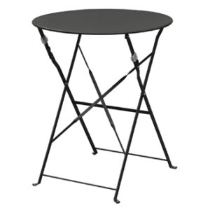 Payvey Pavement Style Steel Folding Space Saver Table - Black