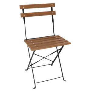 Tarzan Metal Slatted Faux Wood Chair - In/Outdoor - Fully Assembled