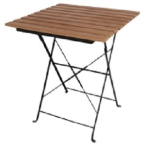 Rhine Folding Faux Wood Bistro Outdoor Garden Patio Table Square Top Available With Matching Chairs
