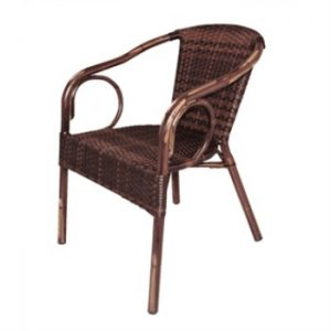 Hila Wicker Armchair - Brown