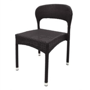 4 Balia Wicker And Aluminium Sidechair