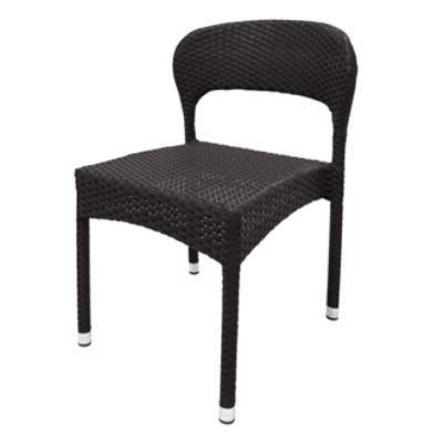 4 Balia Wicker And Aluminium Sidechair
