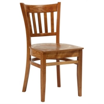 Gandi Oak Frame Kitchen Dining Chair Fully Assembled