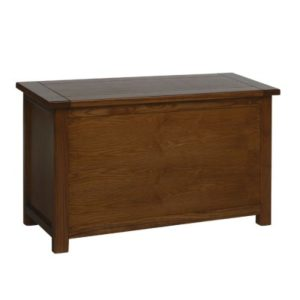 Bozz Antique Wood Ottoman Storage Chest - Dark Brown