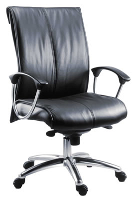 Wertine Office Chair Executive Leather Operator Chair Height Adjustable