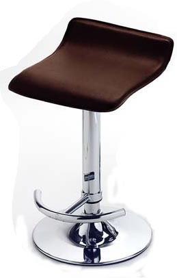 Darsone Brown Kitchen Bar Stool Faux Leather