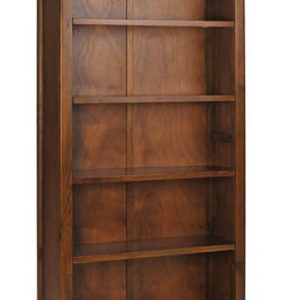 Bozz Antique Wood Tall Bookcase 5 Shelves - Dark Wood