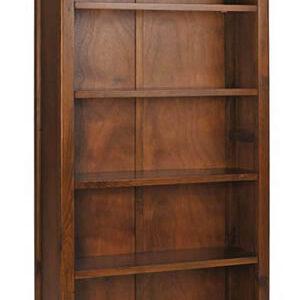 Bermont Dark Antiqued Softwood 5 Shelf Tall Bookcase