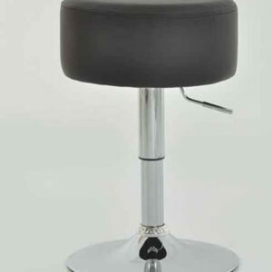 Low Bar Kitchen Stool - Black Padded Seat Height Adjustable