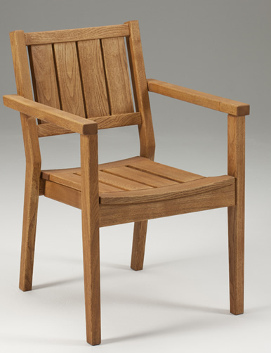 Ibiza Stackable Wood Chair - Indoor/Outdoor