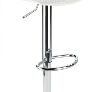 Blazar White Modern Kitchen Bar Stool Height Adjustable