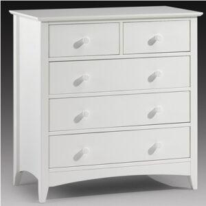 Treck White Stone 3+2 Drawer Chest - Fully Assembled Option