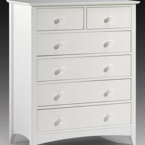 Treck White Stone 4+2 Drawer Chest - Fully Assembled Option