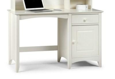 Treck White Stone Desk - 1 Door 1 Drawer - Fully Assembled Option