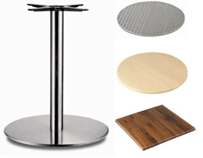 Carla Stainless Steel Table - Large Round Base