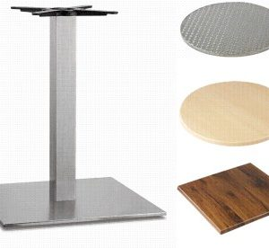 Carla Stainless Steel Table - Rect Base