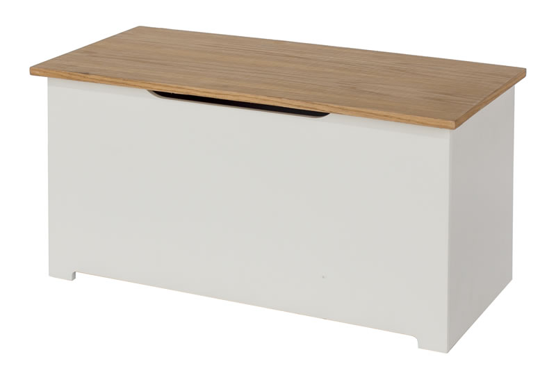 Kolo Ottoman Storage Box Off Cream And Oak