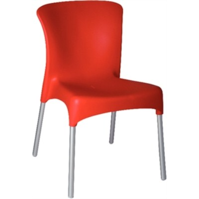 Kongo Stackable Red Chair / Pack Of 4