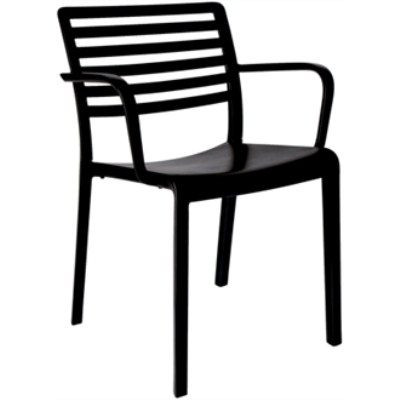 Marilyn Slotted Back Armchair Pack Of 4 Indoor Outdoor Use