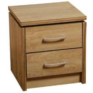 Channing Oak Bedside Chest - 2 Drawer