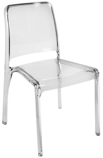 4 Charlize Acrylic Stacking Kitchen Dining Chairs